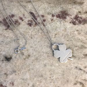 Tiffany & Co Four Leaf Clover Charm and Chain